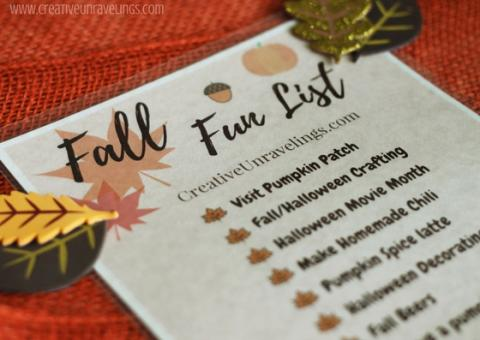 Fall fun list