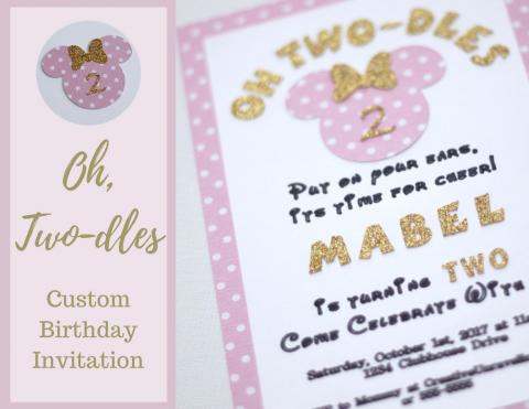 Oh, Two-dles Birthday Invitation