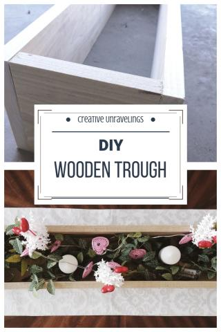 DIY wood trough