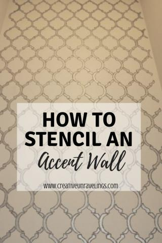 Stenciling Accent wall