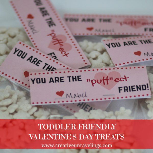 Toddler friendly Valentine's day treats
