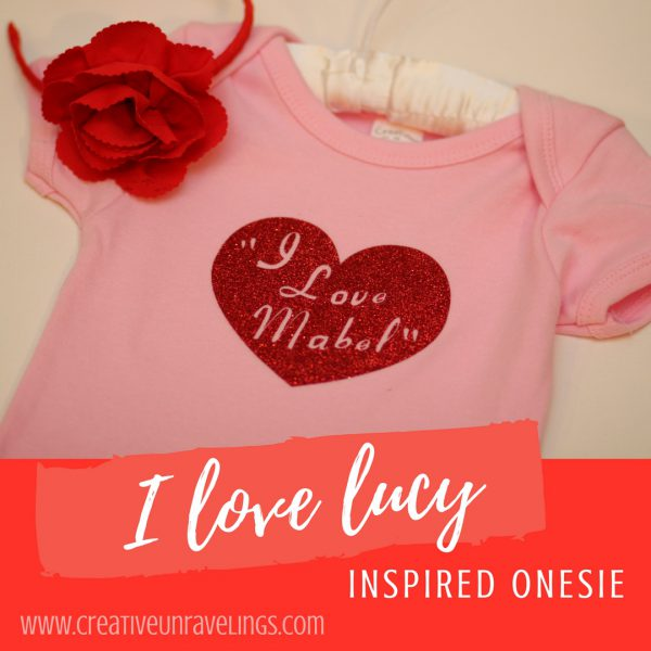 I Love lucy inspired onesie(1)